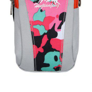 Lightweight Camouflage Arm Bag -  WHITE / PINK / BLUE