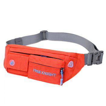 Freeknight Waterproof Headphone Jack Waist Bag - ORANGE ORANGE