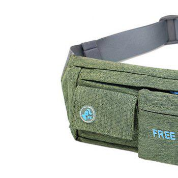 Freeknight Waterproof Headphone Jack Waist Bag - BLACKISH GREEN