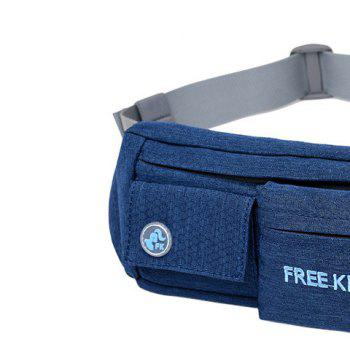Freeknight Waterproof Headphone Jack Waist Bag - PURPLISH BLUE