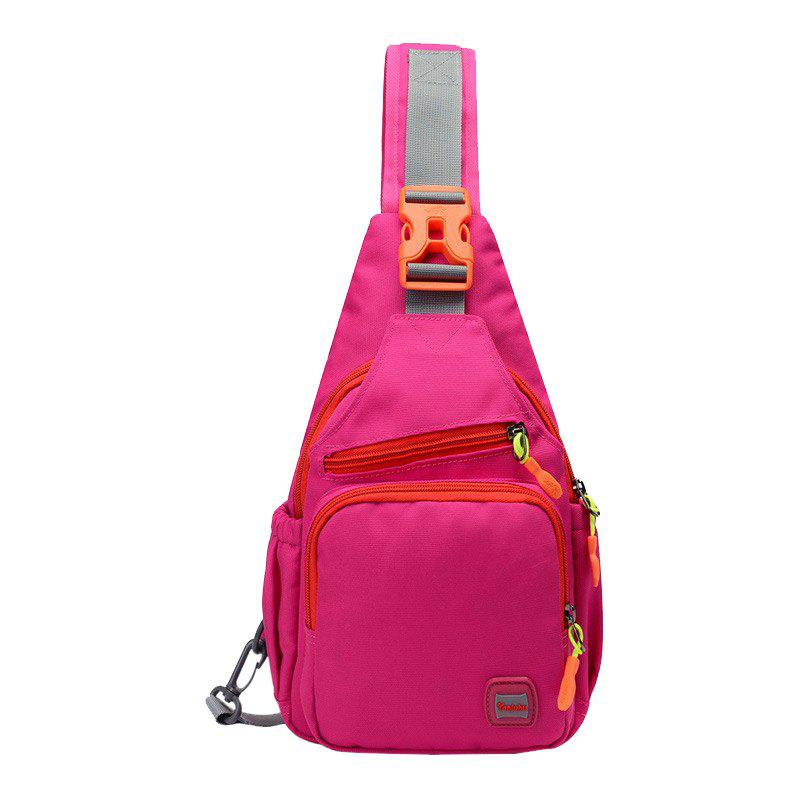 Waterproof Multipurpose Chest Bag - ROSE RED