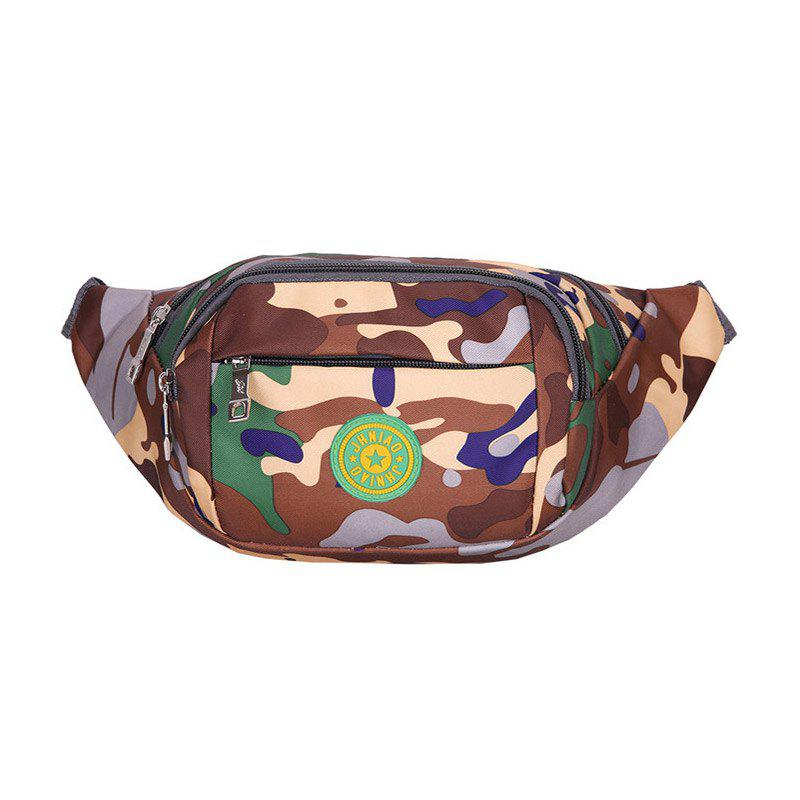Camouflage Waterproof Waist Bag - BROWN