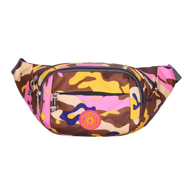 Camouflage Waterproof Waist Bag - PINK