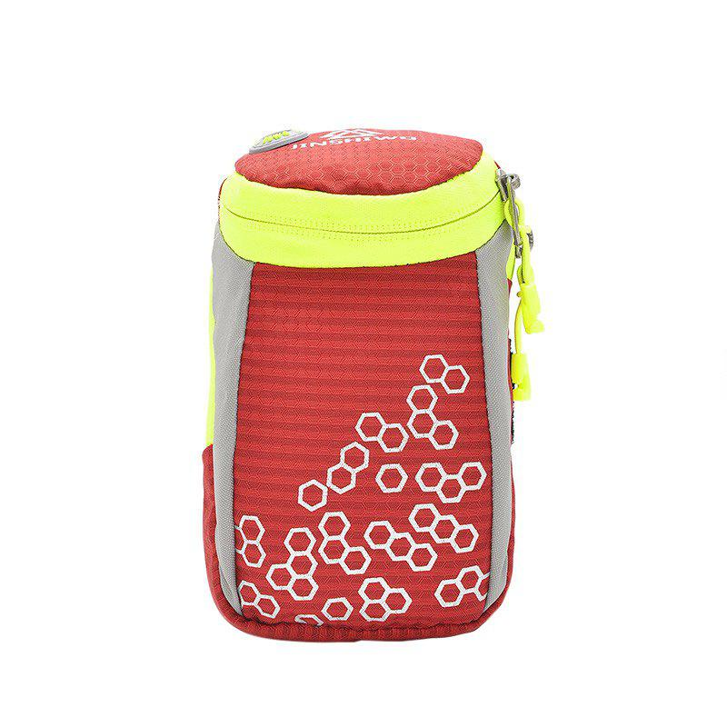Round Letter Pattern Arm Bag - RED