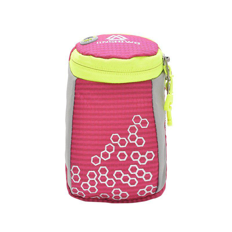 Round Letter Pattern Arm Bag - ROSE RED
