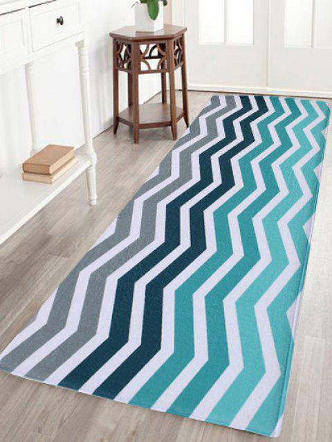 Extra Large Wave Stripe Coral Fleece Area Rug - COLORMIX W16 INCH * L47 INCH