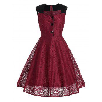 Lace Vintage Swing Skater Dress