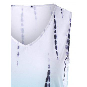 Tie Dye Ombre Tank Top With Pocket - Pers 2XL