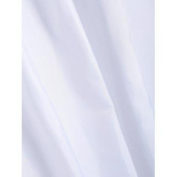 Waterproof Shower Curtain with Hooks - WHITE W71 INCH * L71 INCH