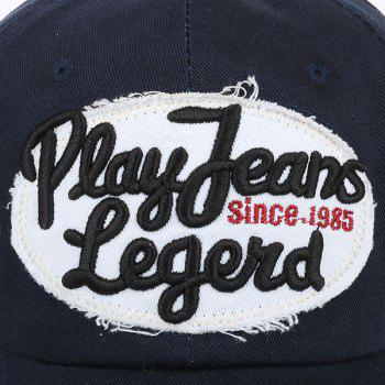 Sunscreen Letters Patchwork Baseball Hat - CADETBLUE