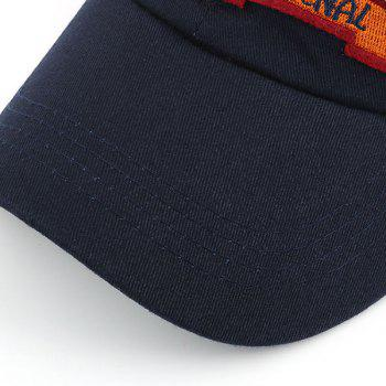 Sunproof Letters Embroidered Baseball Hat - BLACK