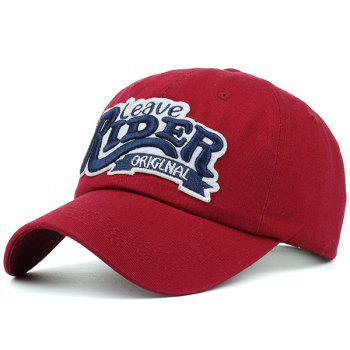Sunproof Letters Embroidered Baseball Hat