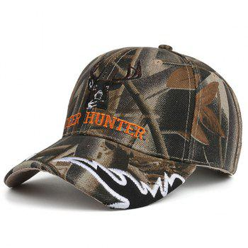 Letters Deer Head Embroidered Camo Baseball Hat