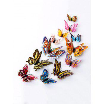 12 PCS DIY Noctilucence 3D Butterfly Wall Sticker