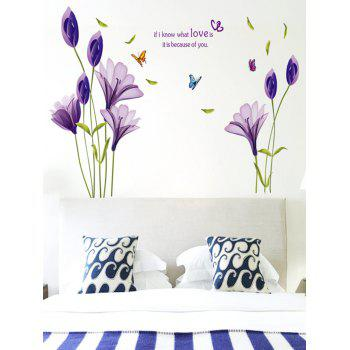 Butterflies Flowers Letter Bedroom Decorative Wall Sticker