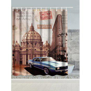 Vintage Australia Building Car Water Resistant Shower Curtain