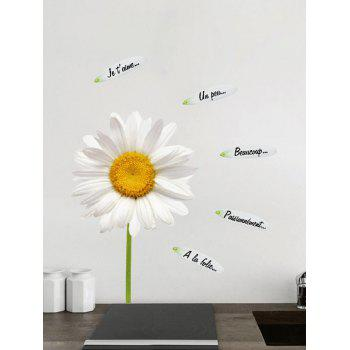 Sunflower Letter Petal Decorative Wall Sticker - WHITE