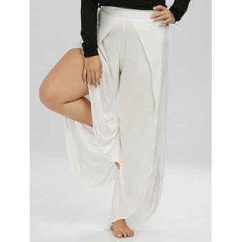High Waisted Slit Palazzo Plus Size Pants