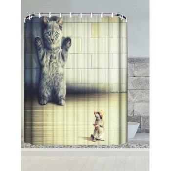 Cat and Mouse Water Resistant Bath Curtain