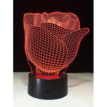 3D Rose Color Change Touch Night Light