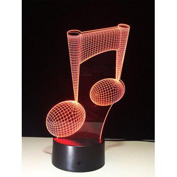 3D Color Change Music Note Touch Night Light