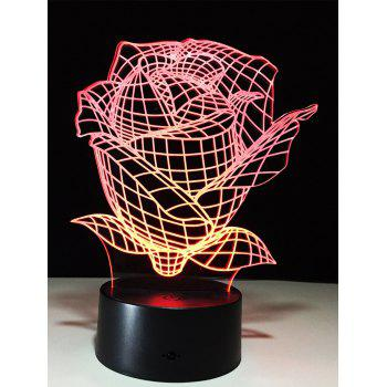 Color Change 3D Rose Touch Night Light