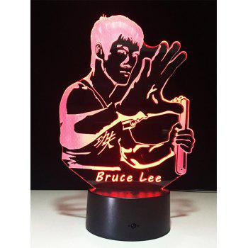 3D Bruce Lee Touch Color Change LED Night Light