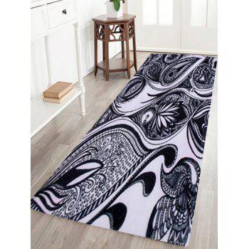 Artistic Peacock Feather Coral Fleece Area Rug