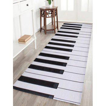Non-slip Coral Velvet Piano Keyboard Bathroom Area Rug