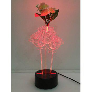 Color Change 3D Rose Touch LED Night Light