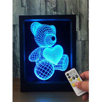 3D Visual Bear Color Change Night Light
