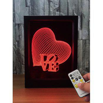 3D Visual Love Heart Color Change LED Night Light