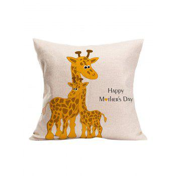 Giraffe Happy Mother's Day Pillow Case