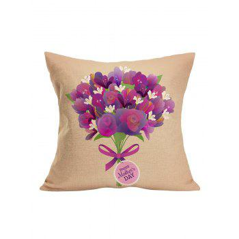 Happy Mother's Day Flower Pillow Case