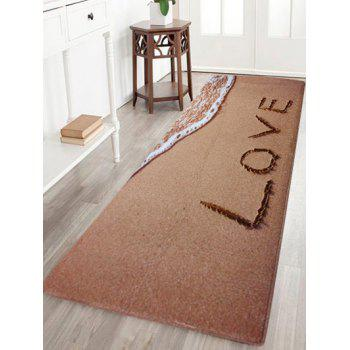 Beach Coral Velvet Soft Absorbent Area Rug