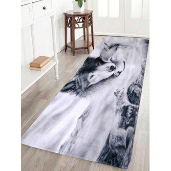 Coral Fleece Large Size Wolf Animal Floor Area Rug