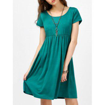 Scoop Neck High Waist Fit and Flare Dress