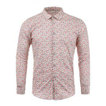 Long Sleeves Tiny Flowers Printed Shirt