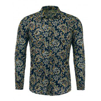 Long Sleeves Paisleys Printed Shirt