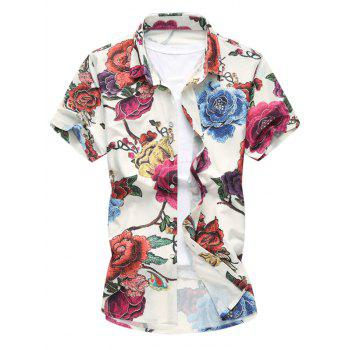 Colorful Flower Print Hawaiian Shirt
