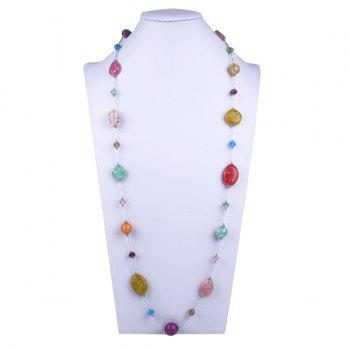 Resin Oval Beaded Necklace