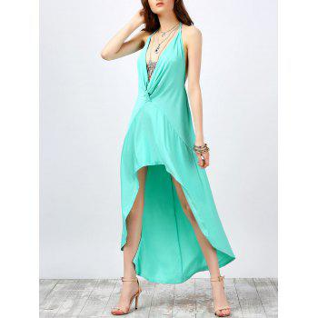 Halter High Low Backless Dress