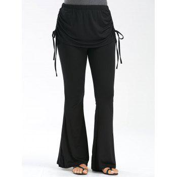 High Waisted Flare Pants with Lace Up