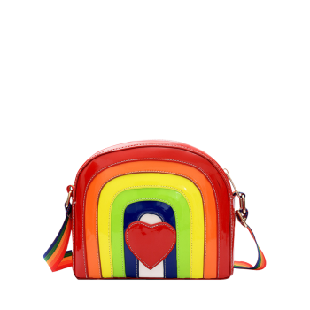 Rainbow Color Cross Body Bag