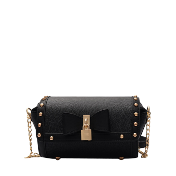 Bowknot Chain Rivet Crossbody Bag