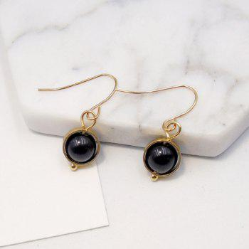 Artificial Agate Bead Ball Drop Earrings