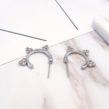 Rhinestone Circle Hoop Earrings