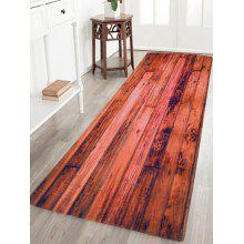 Coral Velvet Water Absorption Woodgrain Carpet