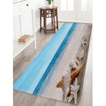 Coral Fleece Beach Scenery Soft Area Rug