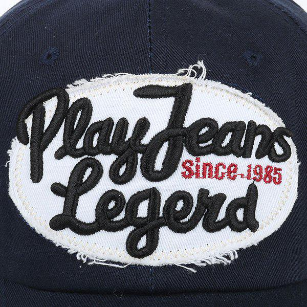 Sunscreen Letters Patchwork Baseball Hat - BLACK